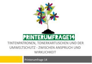 Tintenpatronen, Tonerkartuschen und der Umweltschutz - zwischen Anspruch und  Wirklichkeit