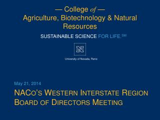NACo's  Western Interstate Region Board of Directors Meeting