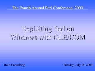 Exploiting Perl on Windows with OLE