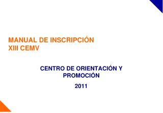 MANUAL DE INSCRIPCIÓN XIII CEMV