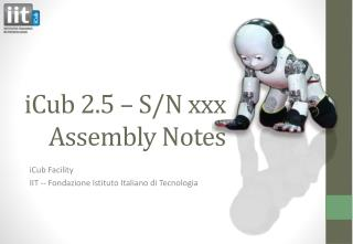 iCub  2.5 – S/N  xxx Assembly Notes