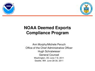NOAA Deemed Exports  Compliance Program