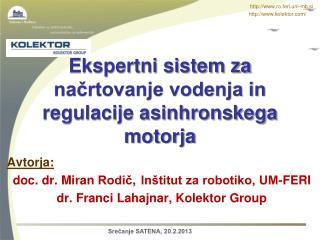 Ekspertni sistem za načrtovanje vodenja in regulacije asinhronskega motorja