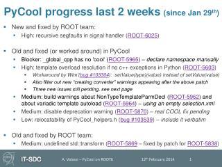 PyCool progress last  2 weeks  (since Jan 29 th )