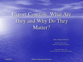 Export Controls: What Are They and Why Do They Matter