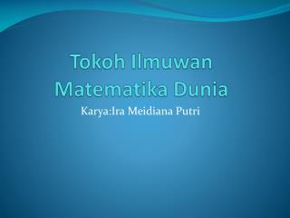 Tokoh Ilmuwan Matematika Dunia