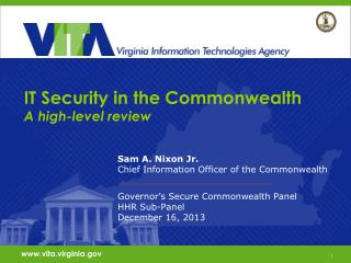 IT Security in the Commonwealth A high-level review
