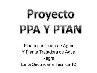 Planta purificada de Agua Y Planta Tratadora de Agua Negra En la Secundaria Técnica 12