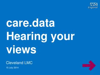 care.data Hearing your views