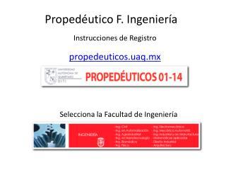 Propedéutico F. Ingeniería