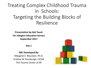 Improving Educational Outcomes  for Students Exposed to Violence:   Cognitive Behavioral Therapy for Trauma in Schools;