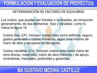 DETERMINACION DE FACTORES DE EQUILIBRIO