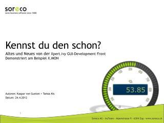 Autoren: Kaspar von Gunten + Tamas Kis Datum: 24.4.2012