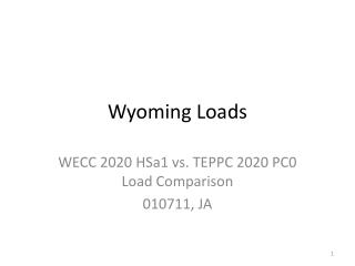 Wyoming Loads