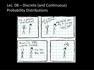 Lec . 08 – Discrete  (and Continuous) Probability  Distributions