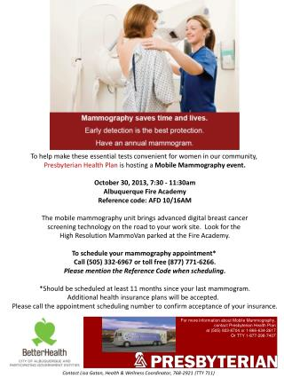 To help make these essential tests convenient for women in our community,