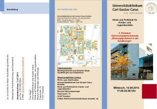 Klinik und Poliklinik für Kinder- und Jugendmedizin 4. Dresdner Gerinnungssprechstunde
