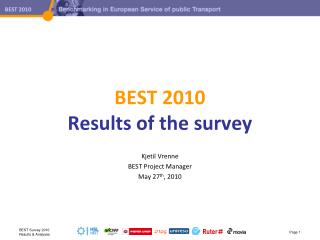 BEST  2010 Results  of the  survey
