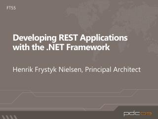 Developing REST Applications with the  Framework