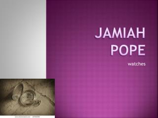 Jamiah  pope