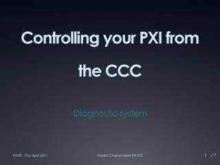 Controlling your PXI from the CCC