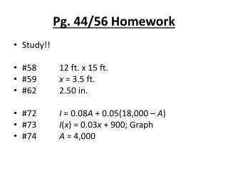 Pg. 44/56 Homework