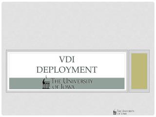 VDI Deployment