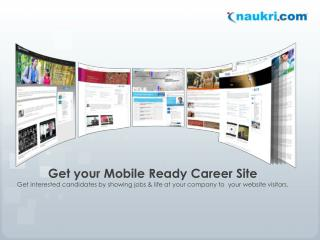 Get your Mobile Ready Career Site