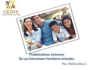Problemáticas Comunes  De Las Estructuras Familiares Actuales.
