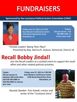 Sponsored by the Louisiana Political Action Committee (LPAC)