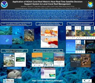 Application  of NOAA Coral Reef Watch's Near-Real-Time Satellite Decision