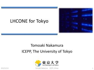 LHCONE for Tokyo
