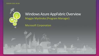 Windows Azure AppFabric Overview