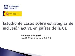 Estudio de casos sobre estrategias de inclusión activa en países de la UE