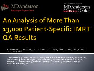 An Analysis of More Than 13,000 Patient-Specific IMRT QA Results