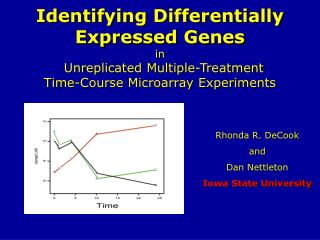 Identifying Differentially Expressed Genes  in    Unreplicated Multiple-Treatment Time-Course Microarray Experiments