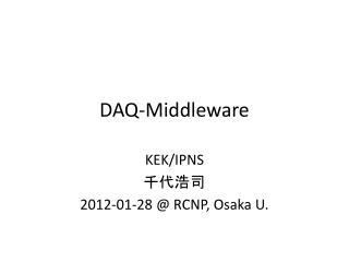 DAQ-Middleware