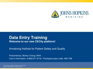 Data Entry Training  Welcome to our new  CECity  platform!