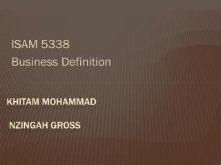 Khitam  Mohammad        Nzingah  Gross