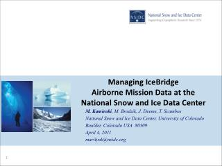Managing  IceBridge Airborne Mission Data at the National Snow and Ice Data Center