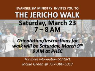 THE JERICHO WALK