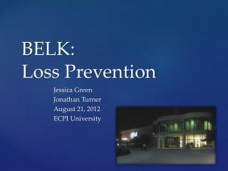 BELK: Loss Prevention
