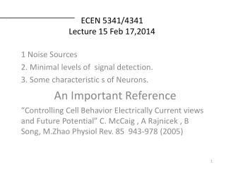 ECEN 5341/4341 Lecture 15 Feb 17,2014
