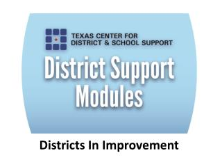 Districts In Improvement