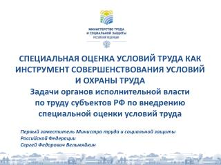 Первый заместитель Министра труда и социальной защиты Российской Федерации