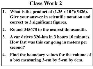 Class Work 2