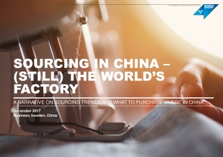 THE SUSTAINABILITY OF GARMENT PRODUCTION AMONG NEW ASIAN EXPORTERS