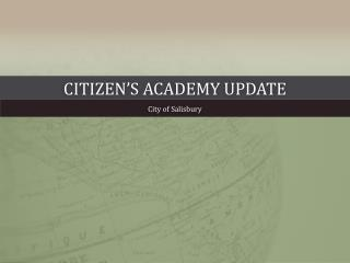 Citizen's Academy Update