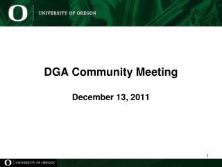 DGA Community Meeting December 13, 2011
