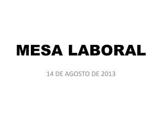 MESA LABORAL